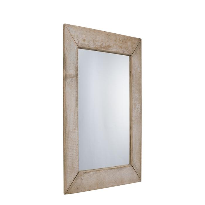 Miroir en bois brut couleur naturel 80 x 170 cm