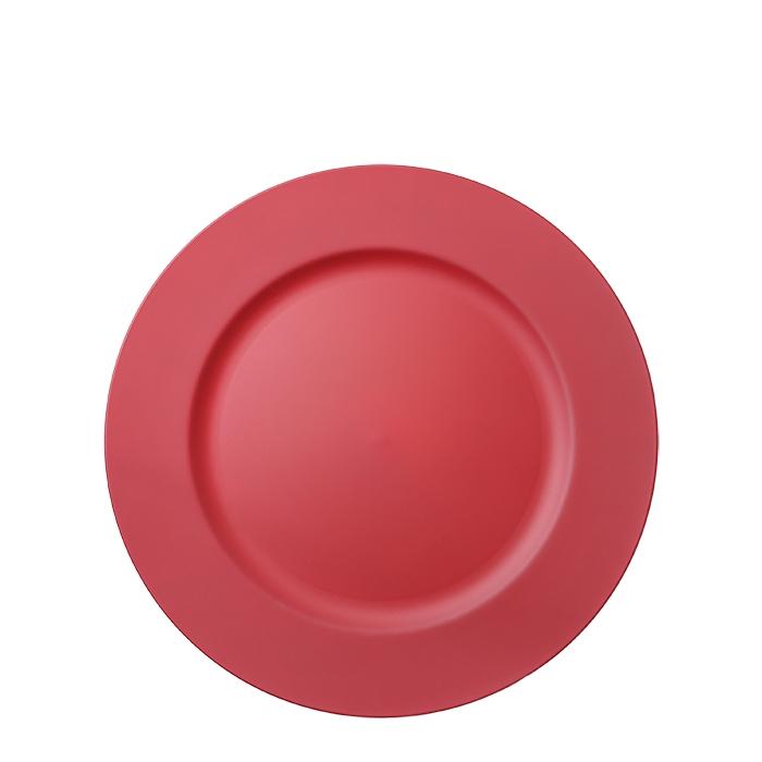 Sottopiatto in plastica rosso d33 cm