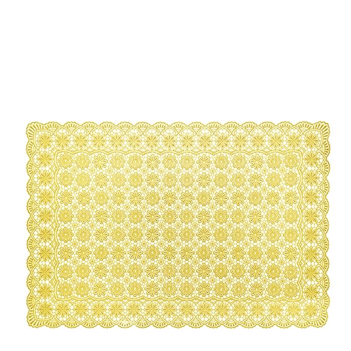 Sunflower vynil waterproof soft placemat floral decoration 36 x 53 cm