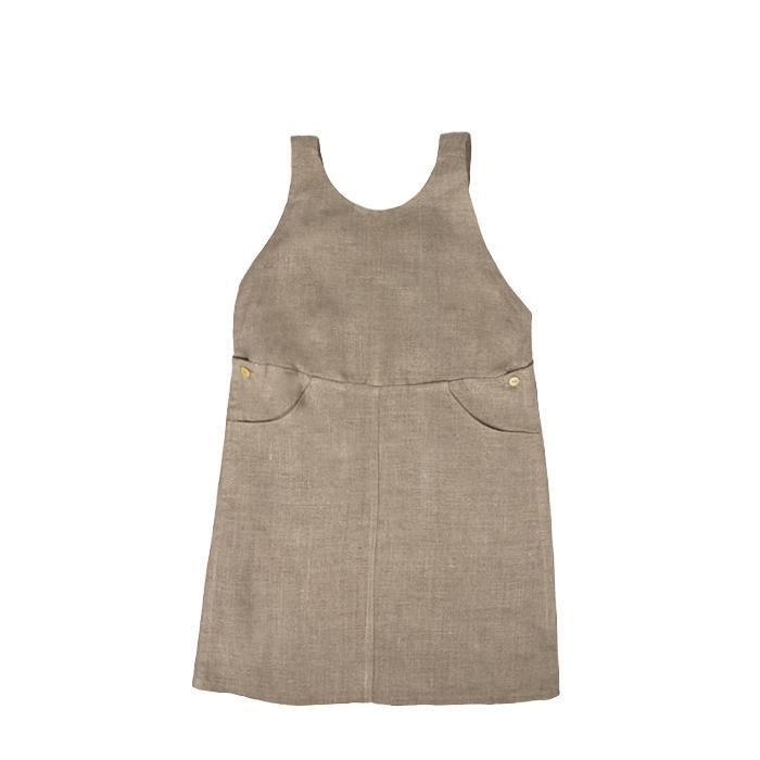 100% linen baby dress