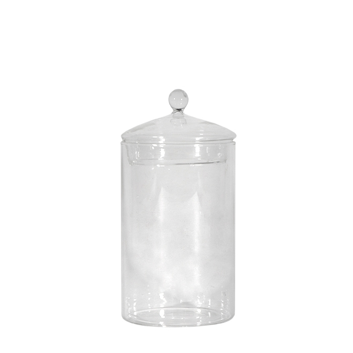 Barattolo in vetro con pallina d9.6 h23 cm