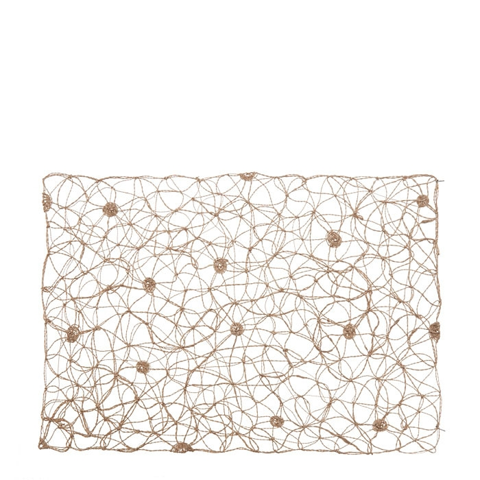 Tangled placemat polka-dotted hazel color