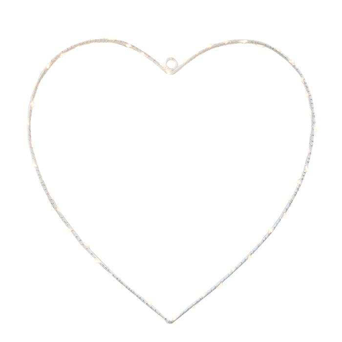 Coeur avec 50 led et batterie indique pour l'usage exterieur h30 cm