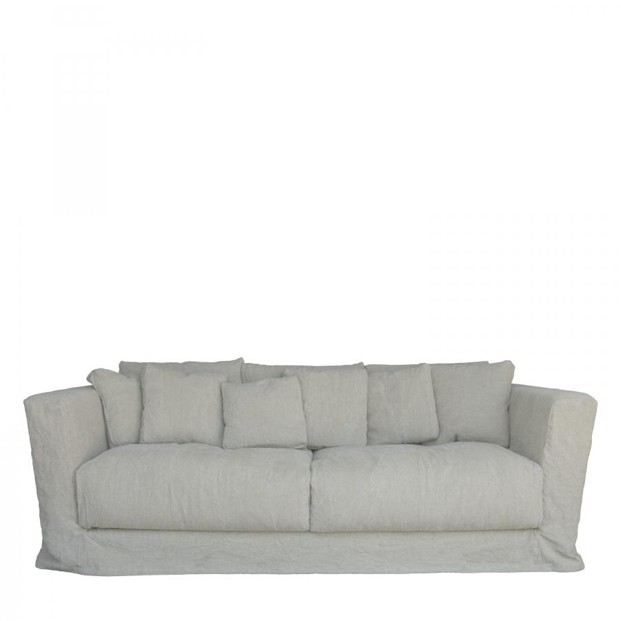 Divano in lino sfoderabile 220 x 110 h70 cm