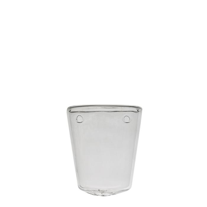 Vaso conico in vetro da muro h10 cm