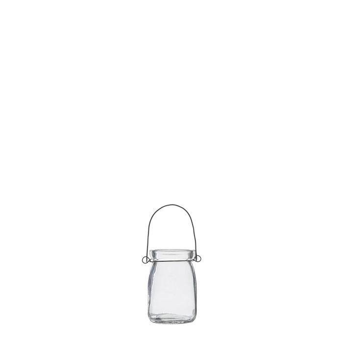 Vasetto pensile liscio trasparente imballo singolo d5 h8 cm