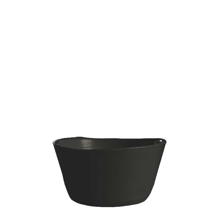 Ciotola svasata in gres nero d12 h6 cm