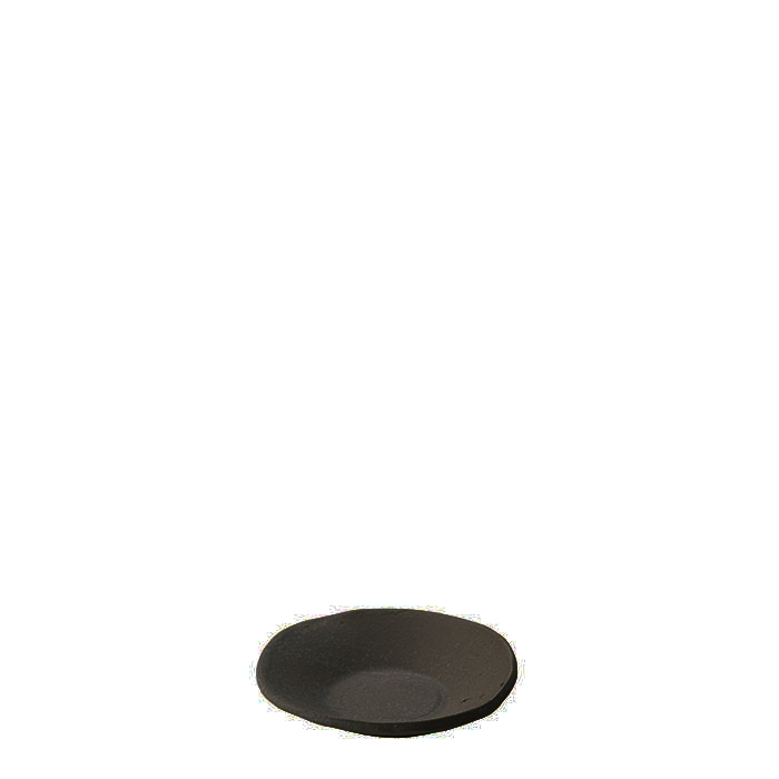 Gres black small plate d10 cm