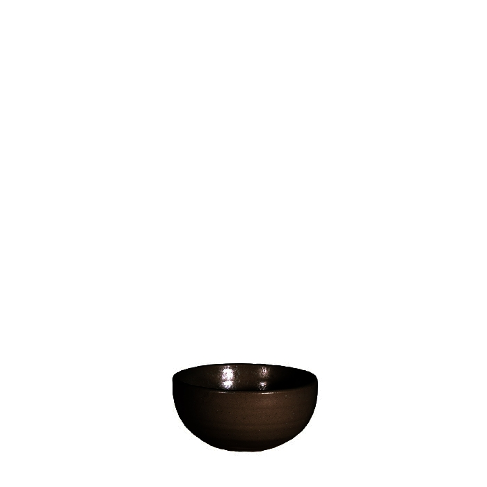 Ciotola mini in gres nero d8.5 cm