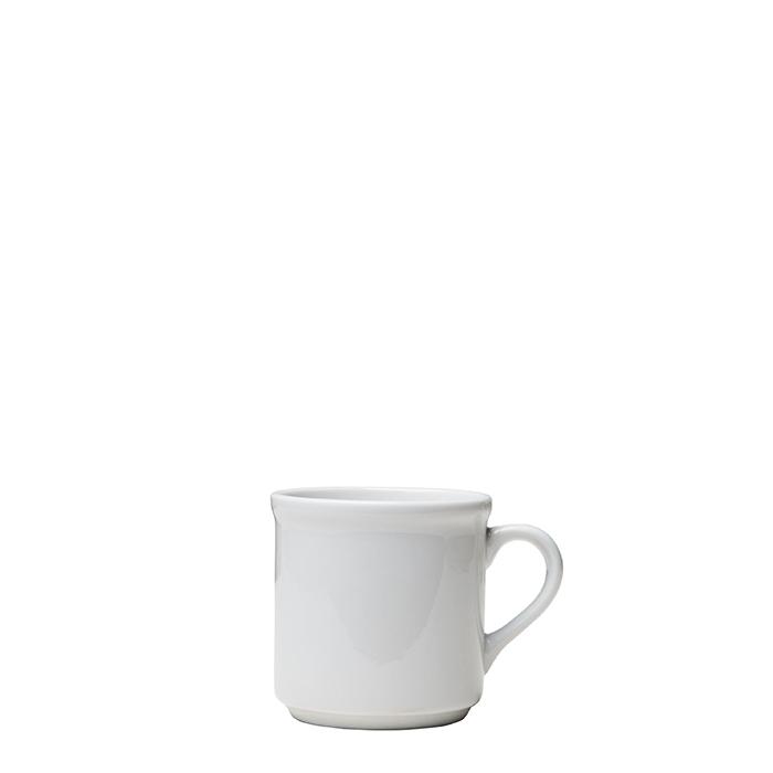 Tazzina ceramica cilindrica panna d7 h7 cm