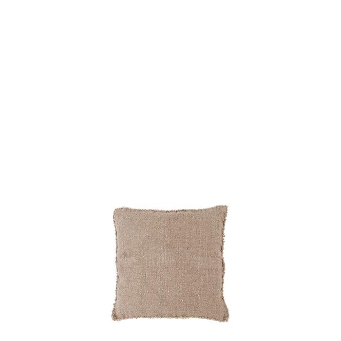 Fodera 100% lino grezzo colore naturale frange 20 x 20 cm