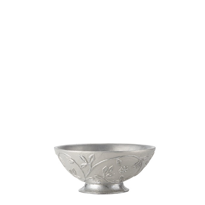 Silver cup with flowers