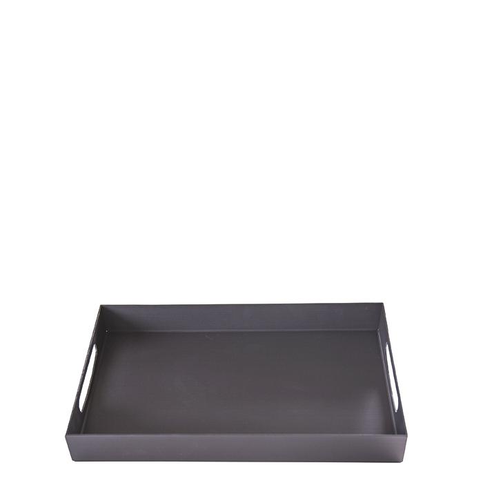 Dark aluminium tray 25x40 h5.4 cm