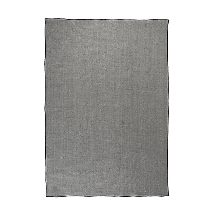 100%linen plain towel black edge 50x70 cm