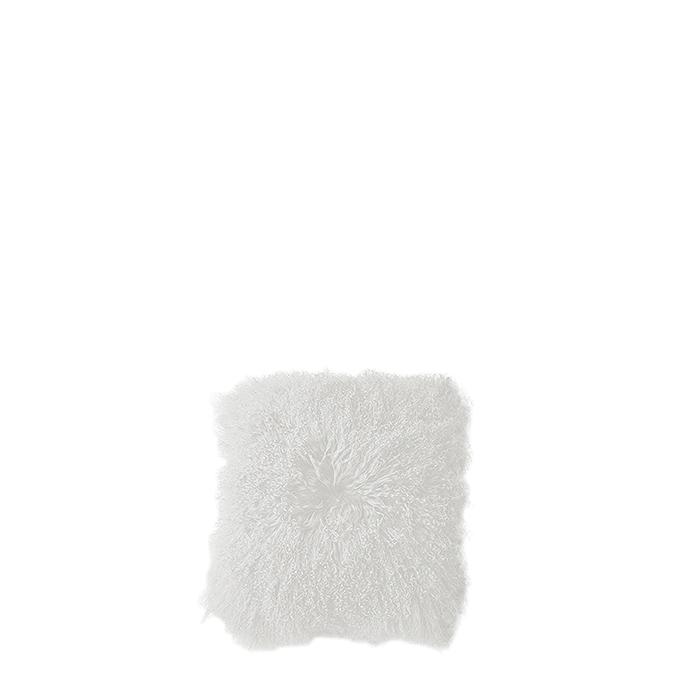 Fodera in pelliccia della mongolia colore bianco 20 x 20 cm