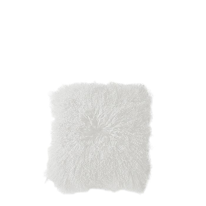 Fodera in pelliccia della mongolia colore bianco 40 x 40 cm