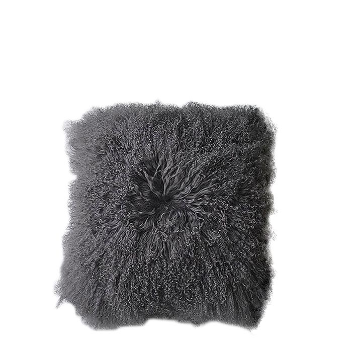 Fodera in pelliccia della mongolia colore lino 60 x 60 cm