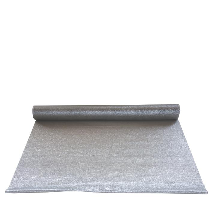 Shiny silver runner 5m x 47cm