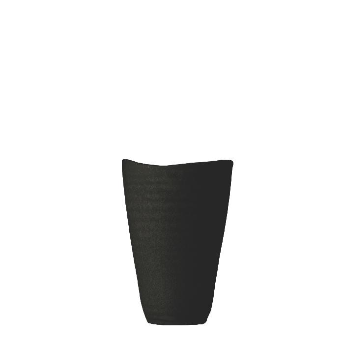 Bicchiere gres acqua liscio nero h10 cm