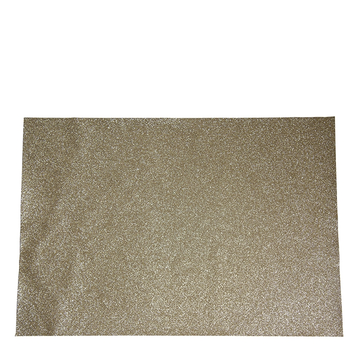 Gold glitter placemat 32 x 47 cm