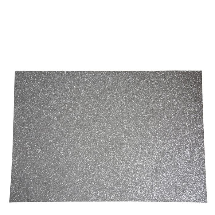 Silver glitter place mat