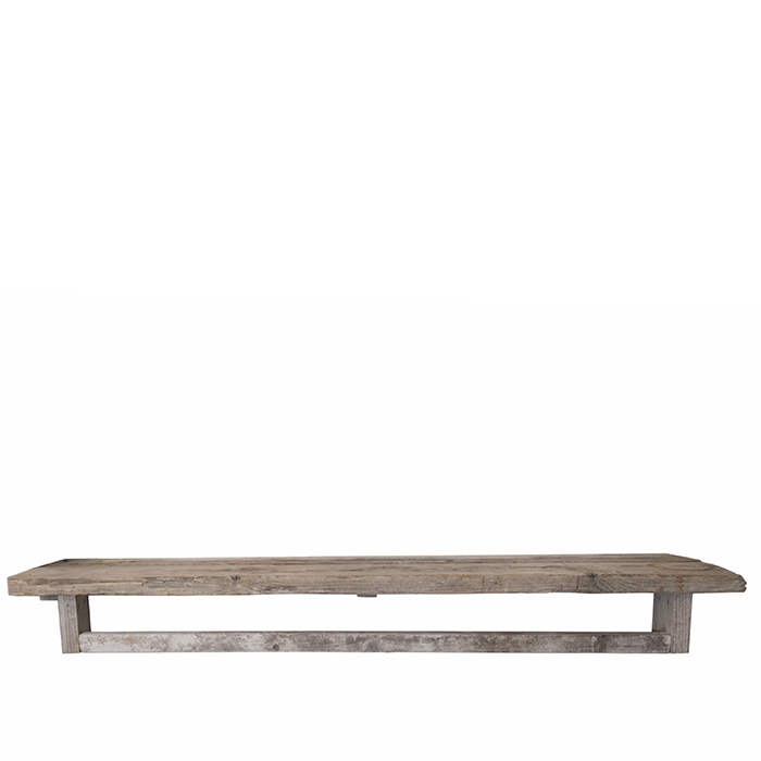 Etagere en bois brut avec porte-serviettes 50 x 170 h20 cm
