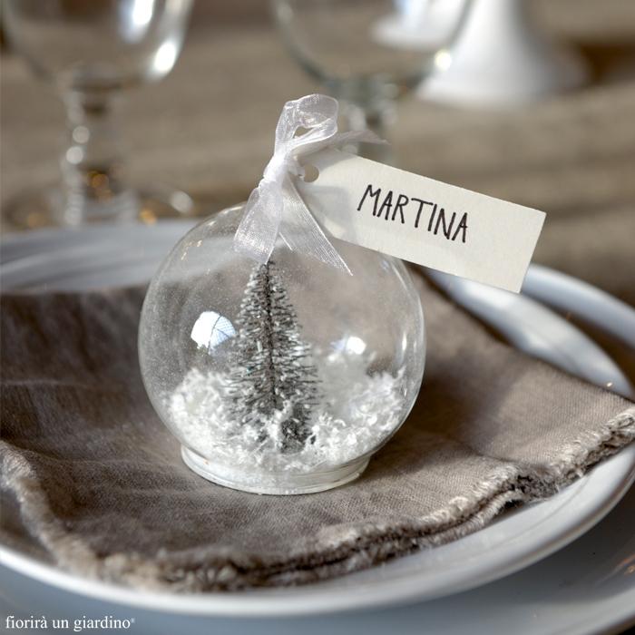 Boule en verre avec sapin et neige a l 39 interieur - Boule a neige verre ...