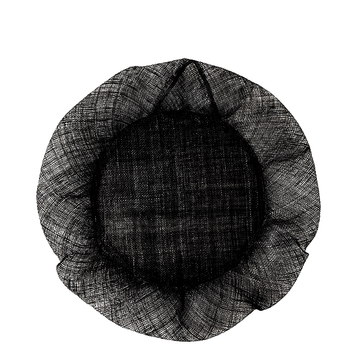 Black volant edge big size underlate d35 cm