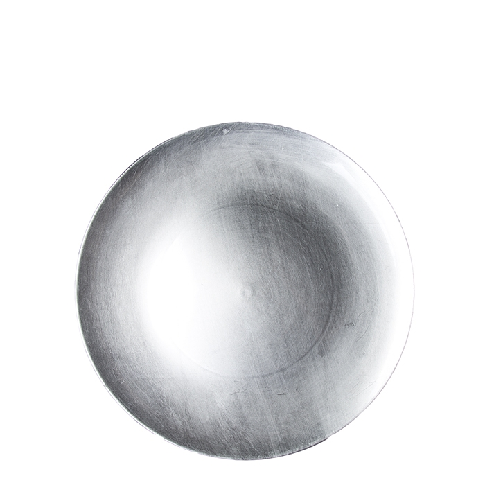 Silver plastic underplate d27.5 cm