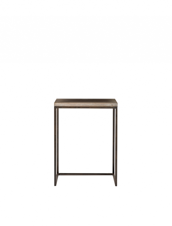 Small bistrot wooden table with iron base