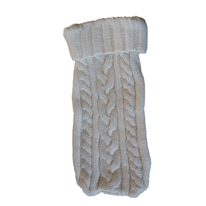 Couverture de sac en laine creme