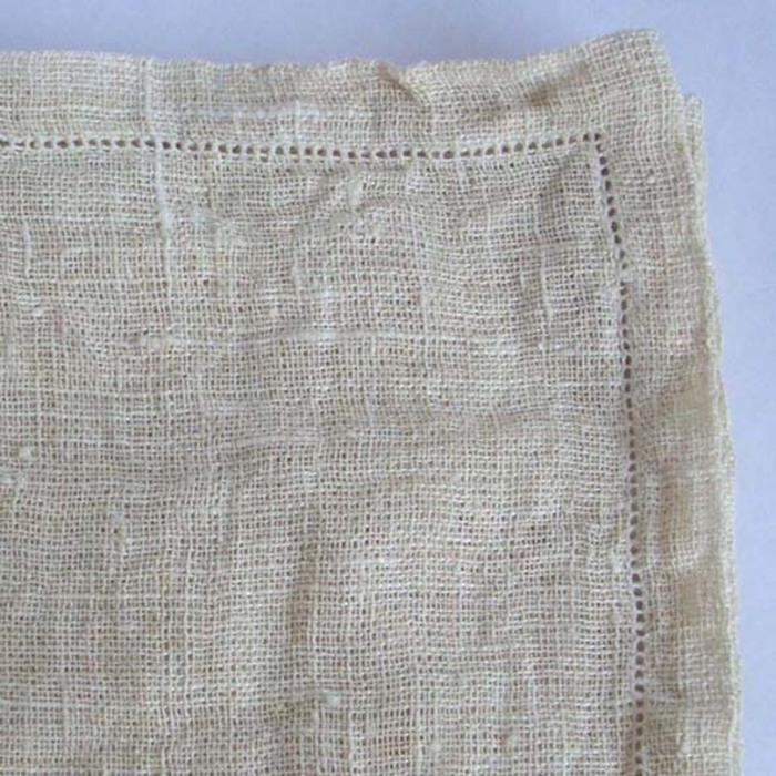 100% net linen tablecloth with hemstitch cream colour 160x270 cm