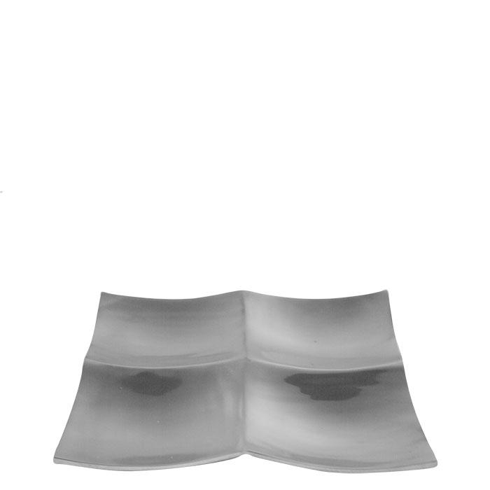 Piatto in alluminio con 4 scomparti 30 x 30 cm