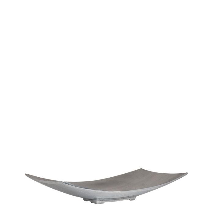 Piatto in alluminio rettangolare concavo 40x20cm