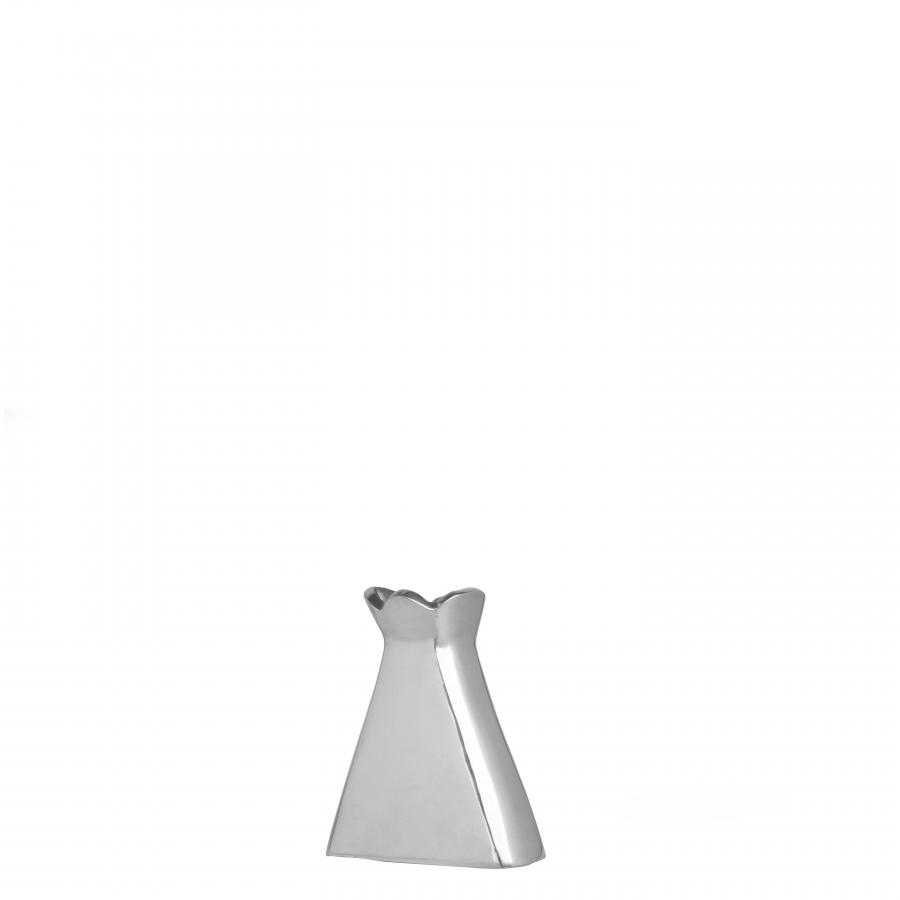 Vaso in alluminio bocca a fiore h12 cm