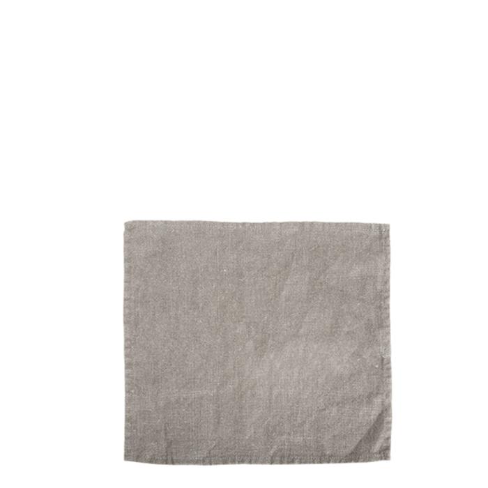 Serviette 100% lin couleur naturelle 26x26 cm