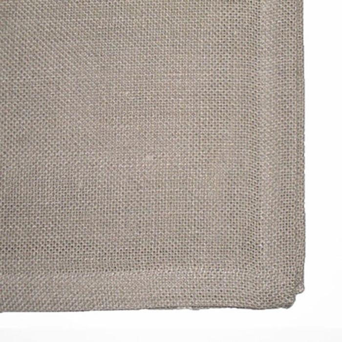 Serviette tramee 100% lin couleur naturel 45 x 45 cm