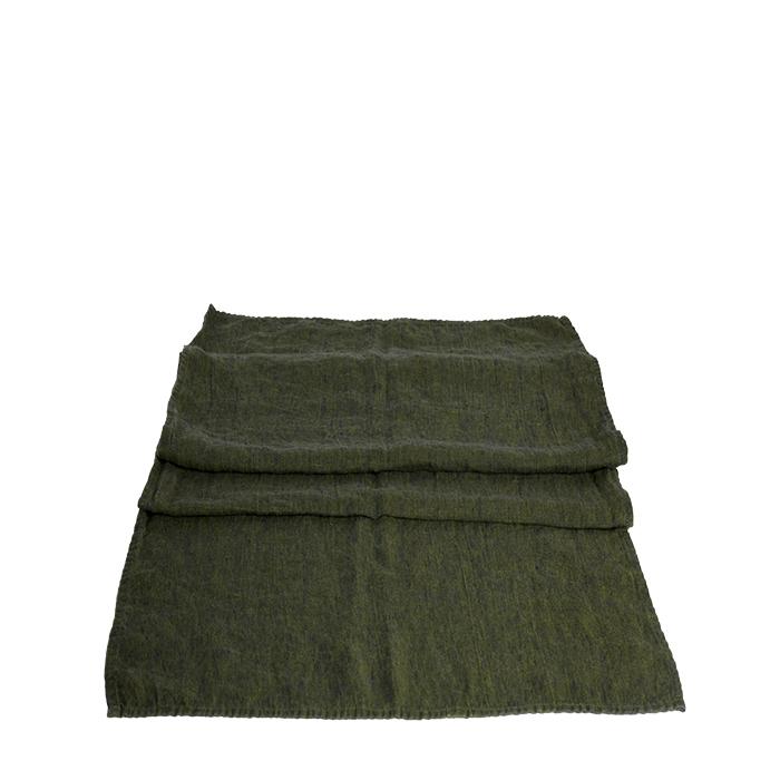 100% linen green runner 50 x 160 cm