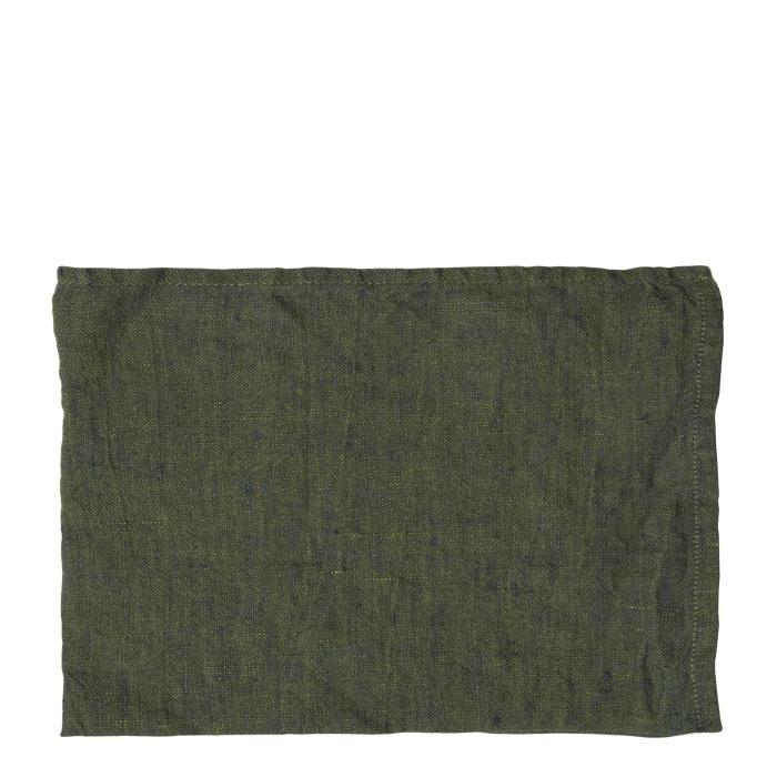 100% linen green placemat 35 x 50 cm