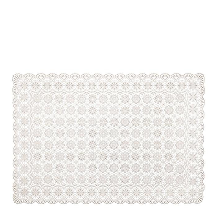 Tovaglietta fiori impermeabile vinile sand morbida 36 x 53 cm