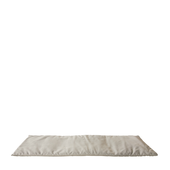 Small mattress with removable lining for external use linen colour 64 x 198 cm