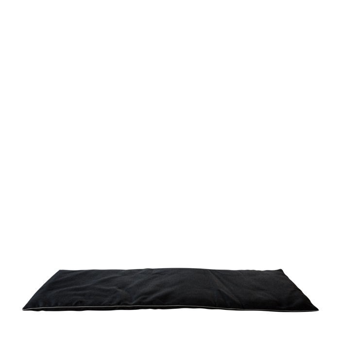 Small black mattress with removable lining for external use 64 x 198 cm