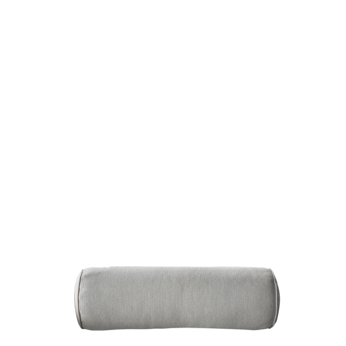 Coussin cylindrique dehoussable pour usage a l'exterieur couleur creme 60 cm
