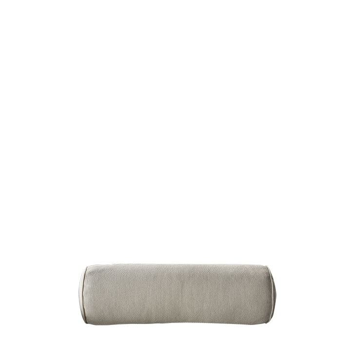 Cylindrical pillow with removable lining for external use linen colour 60 cm