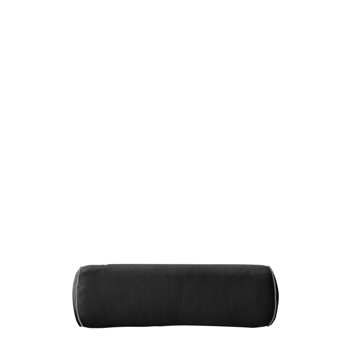 Black cylindrical pillow with removable lining for external use 60 cm