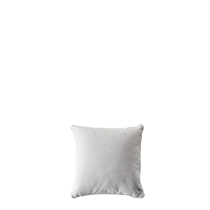 Cream pillow for outdoor use with removable lining 50 x 50 cm