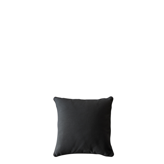 Black pillow for outdoor use with removable lining 50 x 50 cm