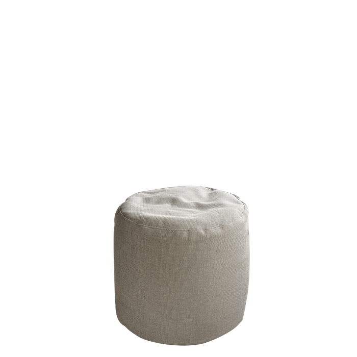 Cylindrical pouf with removable lining for outdoor use linen colour d50 h50 cm