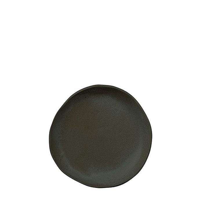 Piatto colazione in gres nero d20 cm