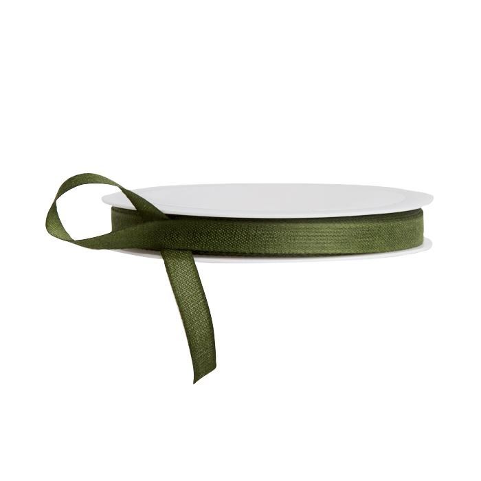 Dark green cotton ribbon 25m x 10cm